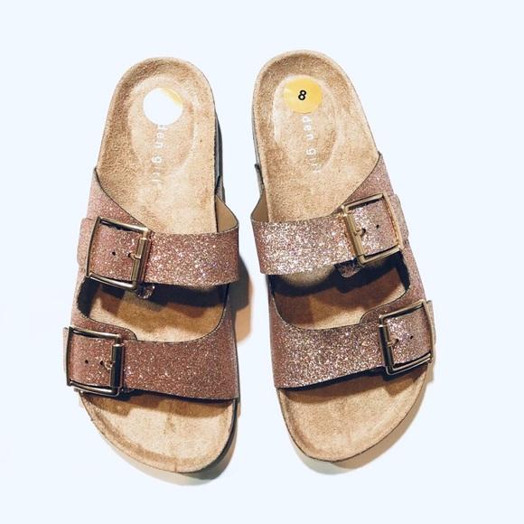 d522bc71579a Madden Girl Shoes | Glitter Brando Footbed Sandals 8 | Poshmark